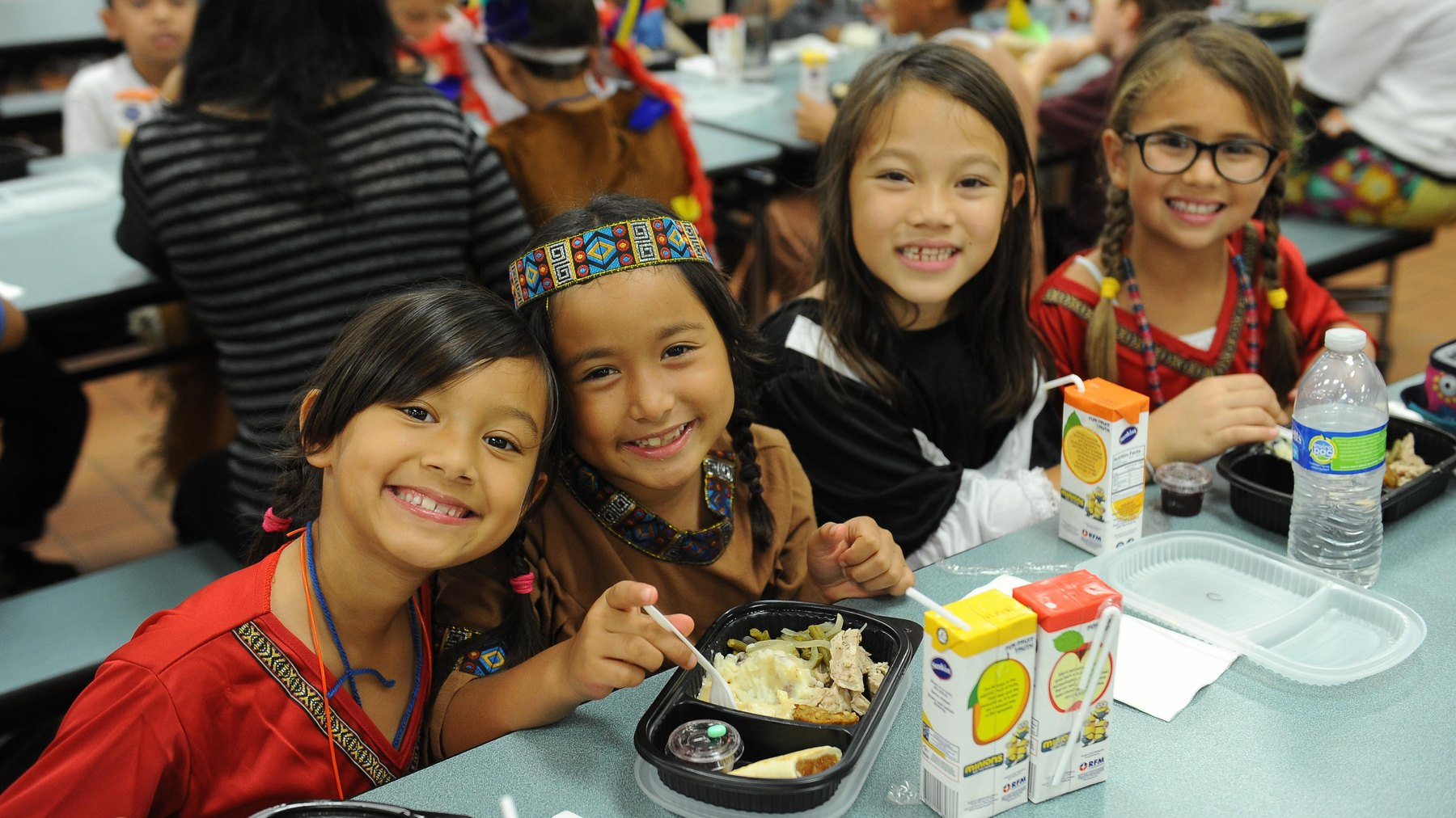 Pilgrim Indian girls lunch